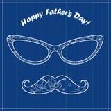 Scheda felice del giorno del padre royalty illustrazione gratis