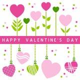 Scheda felice di giorno dei biglietti di S. Valentino [1] Immagine Stock