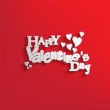 Scheda felice di giorno di biglietti di S. Valentino Fotografia Stock Libera da Diritti