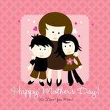 Scheda felice di giorno di madri Fotografia Stock Libera da Diritti