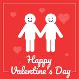 Scheda felice di giorno di Valentineâs Illustratore di vettore Fotografia Stock