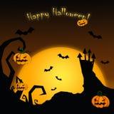 Scheda felice di Halloween Fotografia Stock