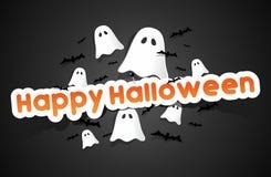 Scheda felice di Halloween Immagini Stock