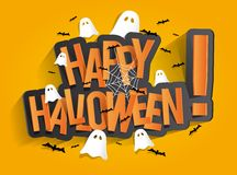 Scheda felice di Halloween Fotografie Stock Libere da Diritti