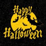 Scheda felice di Halloween Immagine Stock