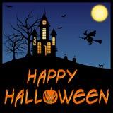Scheda felice di Halloween illustrazione vettoriale