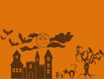 Scheda felice di Halloween Fotografie Stock