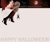 Scheda felice di magia di Halloween Fotografie Stock