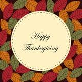Scheda felice di ringraziamento
