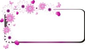 Scheda floreale dei biglietti di S. Valentino Fotografia Stock