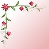 Scheda floreale di vettore illustrazione di stock