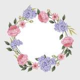 Scheda floreale Mazzo delle rose, Immagini Stock Libere da Diritti