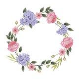 Scheda floreale Mazzo delle rose, Fotografia Stock Libera da Diritti