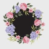 Scheda floreale Mazzo delle rose, Immagini Stock