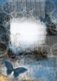 Scheda grafica con la farfalla Fotografia Stock