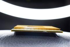 Scheda madre del chipset di Digital con il chip di unità di elaborazione Immagine Stock