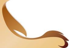 Scheda marrone decorativa Immagini Stock Libere da Diritti