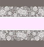 scheda Modello delle rose Fotografia Stock