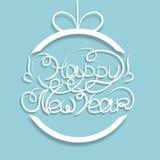 scheda Nuovo anno blu Immagine Stock