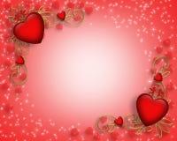 Scheda o priorità bassa di giorno dei biglietti di S. Valentino Fotografia Stock