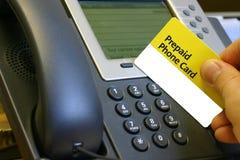 Scheda pagata anticipatamente del telefono Fotografia Stock
