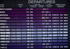 Scheda partenza/di arrivo Fotografie Stock Libere da Diritti