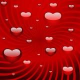 Scheda per il giorno del biglietto di S. Valentino Fotografia Stock Libera da Diritti