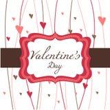 Scheda per il giorno del biglietto di S. Valentino Immagine Stock Libera da Diritti