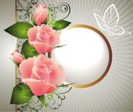 Scheda per il giorno del biglietto di S. Valentino con la farfalla Fotografia Stock Libera da Diritti