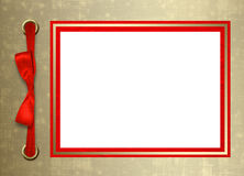Scheda per la congratulazione con il blocco per grafici dell'oro royalty illustrazione gratis