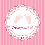 Scheda per la neonata illustrazione di stock