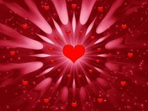 Scheda per le feste - giorno di astrazione dei biglietti di S. Valentino illustrazione vettoriale