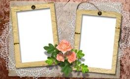 Scheda per una foto o un invito Fotografie Stock