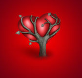 Scheda romantica Immagini Stock