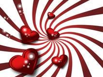 Scheda rossa dei biglietti di S. Valentino Immagini Stock Libere da Diritti
