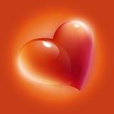 Scheda rossa del cuore Immagini Stock Libere da Diritti