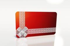 Scheda rossa del regalo Immagine Stock