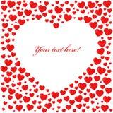 Scheda rossa di figura del cuore Fotografia Stock