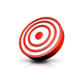Scheda rossa e bianca dell'obiettivo Fotografie Stock