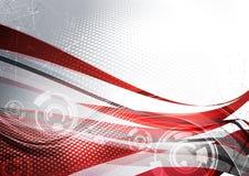 Scheda rossa nel retro stile Immagine Stock Libera da Diritti