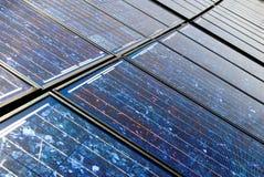 Scheda solare anziana Fotografie Stock Libere da Diritti