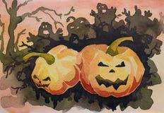 Scheda spaventosa di congratulazione di Halloween Fotografia Stock