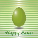 Scheda a strisce verde con le uova di Pasqua Immagine Stock Libera da Diritti