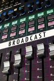 Scheda variopinta di radiodiffusione fotografie stock libere da diritti