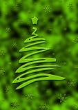 Scheda verde del christmax Fotografie Stock