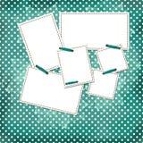 Scheda verde di congratulazione con gli strati per il disegno Immagini Stock Libere da Diritti