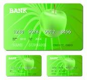Scheda verde di debito o di credito Fotografia Stock Libera da Diritti
