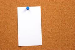 Scheda vuota su un verticale della scheda con spazio fotografia stock libera da diritti