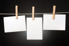 Schede bianche Fotografia Stock Libera da Diritti