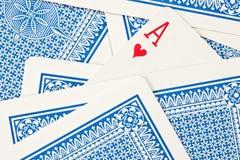 Schede blu Fotografie Stock